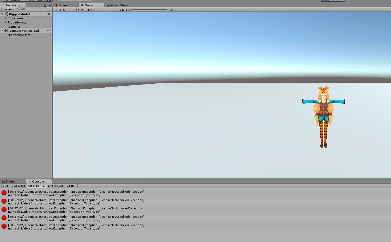 Nuitrack Kinect v2 - license error - Unity3D - Nuitrack