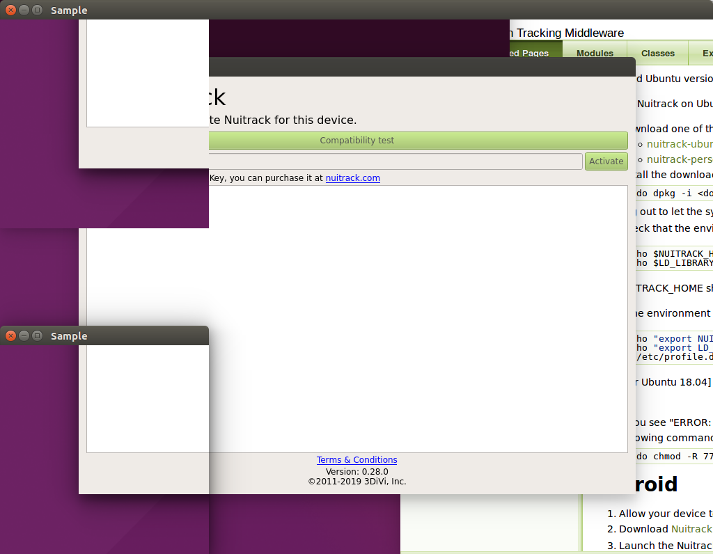 Ubuntu and Intel RealSense D415 issues - Nuitrack SDK - skeletal